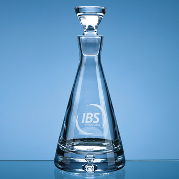 Bubble Base Pyramid Decanter 0.75ltr