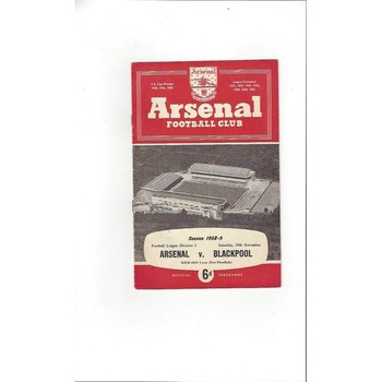 1958/59 Arsenal v Blackpool Football Programme