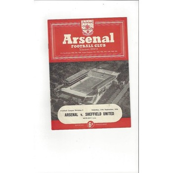 1954/55 Arsenal v Sheffield United Football Programme