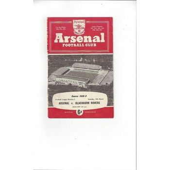 Arsenal v Blackburn Rovers 1958/59
