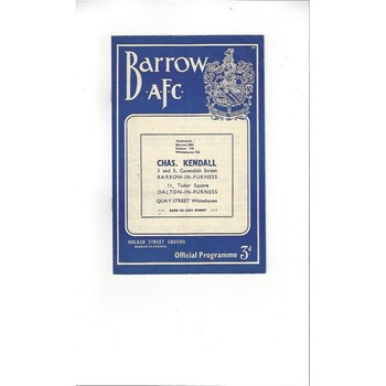 1958/59 Barrow v Gateshead Football Programme