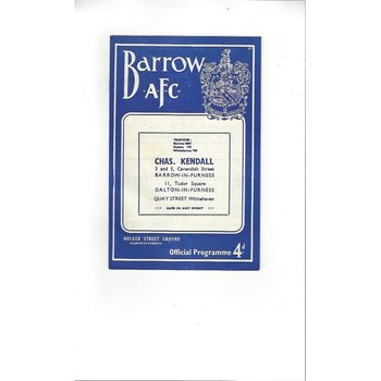 1959/60 Barrow v Rochdale Football Programme
