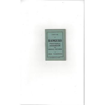 Rangers Official Football Handbook 1947/48