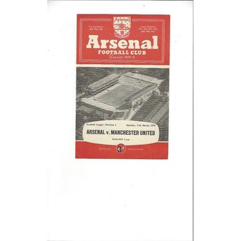 1955/56 Arsenal v Manchester United Football Programme 4 page issue 17th March