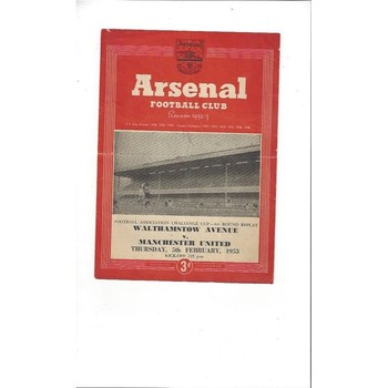 Walthamstow Avenue v Manchester United FA Cup Replay 1952/53 @ Arsenal
