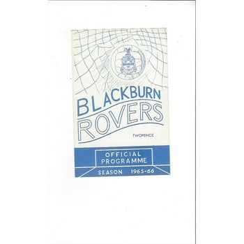 1965/66 Blackburn Rovers v Blackpool 4 page Football Programme May