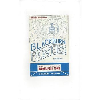 Blackburn Rovers v Huddersfield Town 1966/67