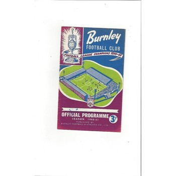1960/61 Burnley v Wolves Football Programme