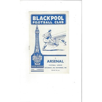 1960/61 Blackpool v Arsenal Football Programme