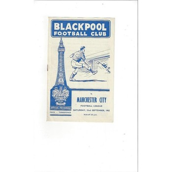 Blackpool v Manchester City 1962/63