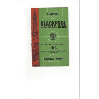 1963/64 Blackpool v Sheffield United Football Programme