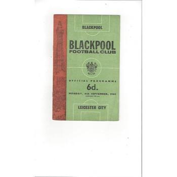 1965/66 Blackpool v Leicester City Football Programme