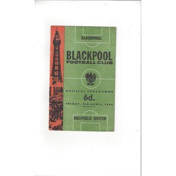 1965/66 Blackpool v Sheffield United Football Programme