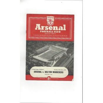 1954/55 Arsenal v Bolton Wanderers Football Programme