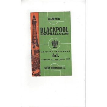 Blackpool Home Football Programmes