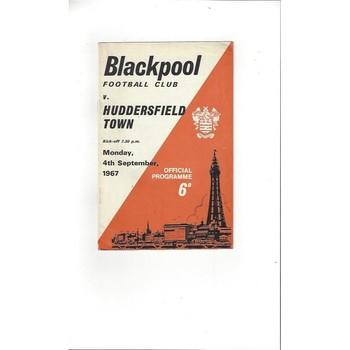 Blackpool v Huddersfield Town 1967/68