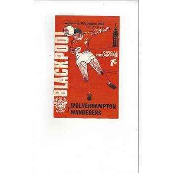 1968/69 Blackpool v Wolves League Cup Football Programme