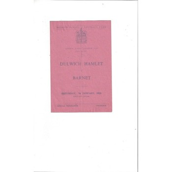 1949/50 Dulwich Hamlet v Barnet London Amateur Senior Cup Football Programme