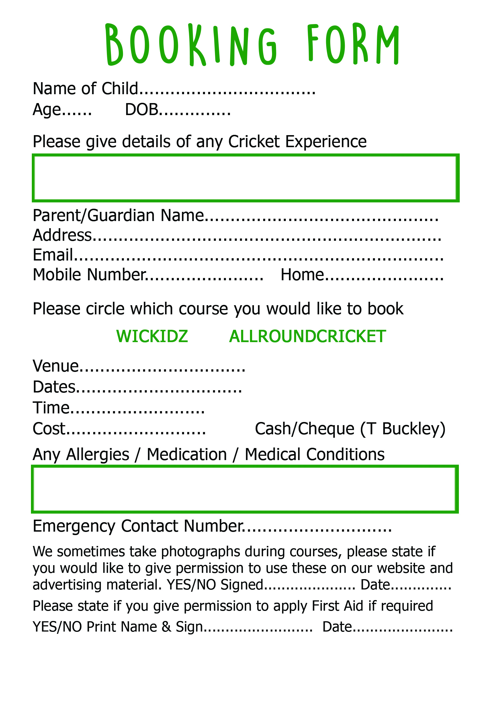 Booking forms allroundcricketcoaching download booking form inc consent thecheapjerseys Choice Image