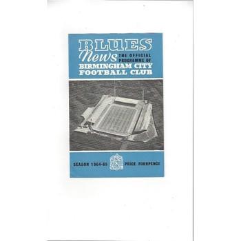 Birmingham City v Everton 1964/65