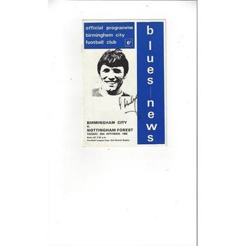 Birmingham City v Nottingham Forest League Cup Replay 1966/67
