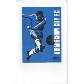 1967/68 Birmingham City v Portsmouth Football Programme