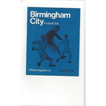 Birmingham City v Blackburn Rovers 1968/69