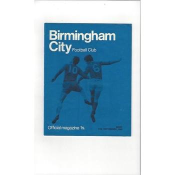 Birmingham City v Bury 1968/69