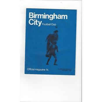 Birmingham City v Charlton Athletic 1968/69