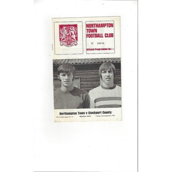 1970/71 Northampton Town v Stockport County Football Programme