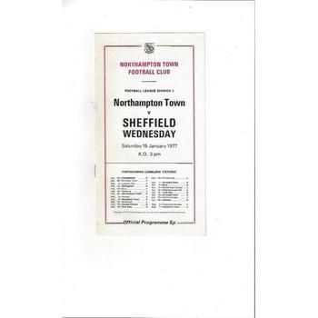 1976/77 Northampton Town v Sheffield Wednesday Football Programme