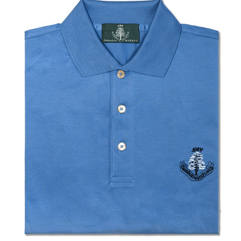 Sardegna  Short Sleeve Polo Prussian