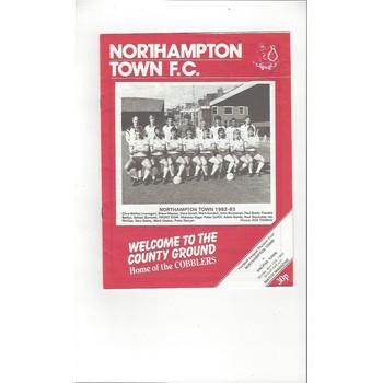 1982/83 Northampton Town v Halifax Town Football Programme