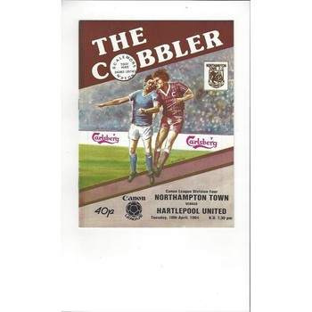 1983/84 Northampton Town v Hartlepool United Football Programme