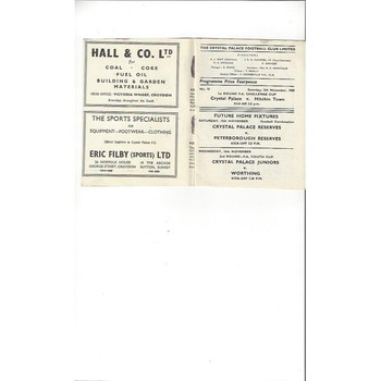 Crystal Palace v Hitchin Town FA Cup 1960/61
