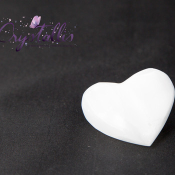 Selenite Puff Heart
