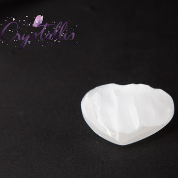 Selenite Shell Heart