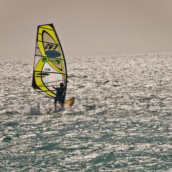Yellow wind surfer