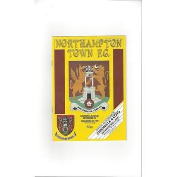 1985/86 Northampton Town v Leyton Orient Football Programme + Insert