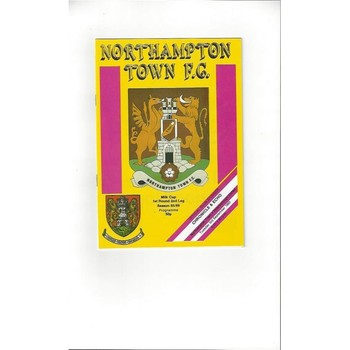 1985/86 Northampton Town v Peterborough United League Cup Football Programme