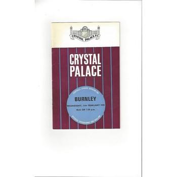 Crystal Palace v Burnley 1969/70