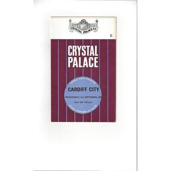1969/70 Crystal Palace v Cardiff City Football Programme