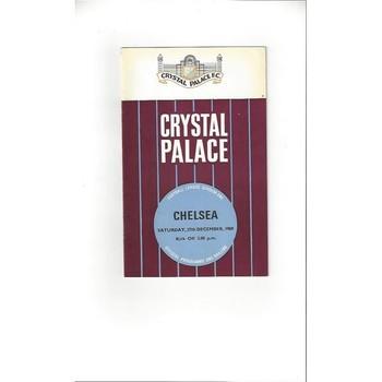 1969/70 Crystal Palace v Chelsea Football Programme