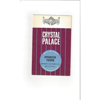 Crystal Palace v Ipswich Town 1969/70