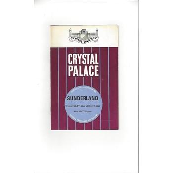 1969/70 Crystal Palace v Sunderland Football Programme