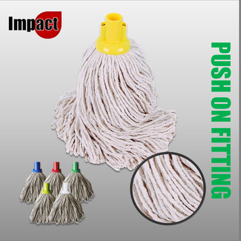 Exel PY Mop Heads, Push On - Blue, Red, Green or Yellow