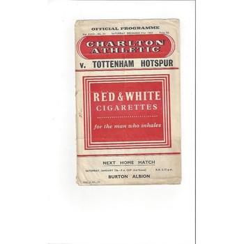 1955/56 Charlton Athletic v Stoke City Football Programme