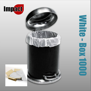 Pedal Bin Liners, White - Case 1000