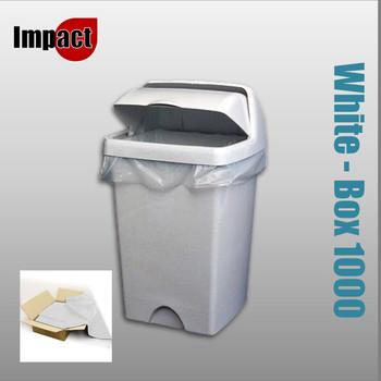 Swing bin liners, White - Case 1000