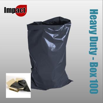 Heavy duty rubble sacks, Black - Case 100